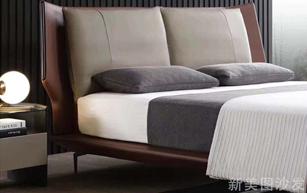 现代真皮软床